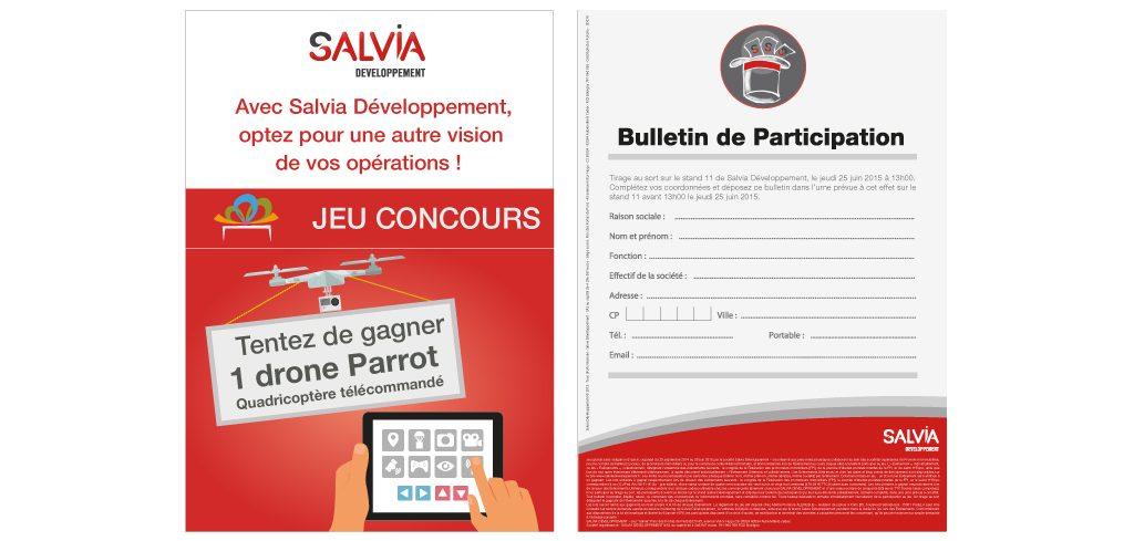 Création flyer Salvia Développement