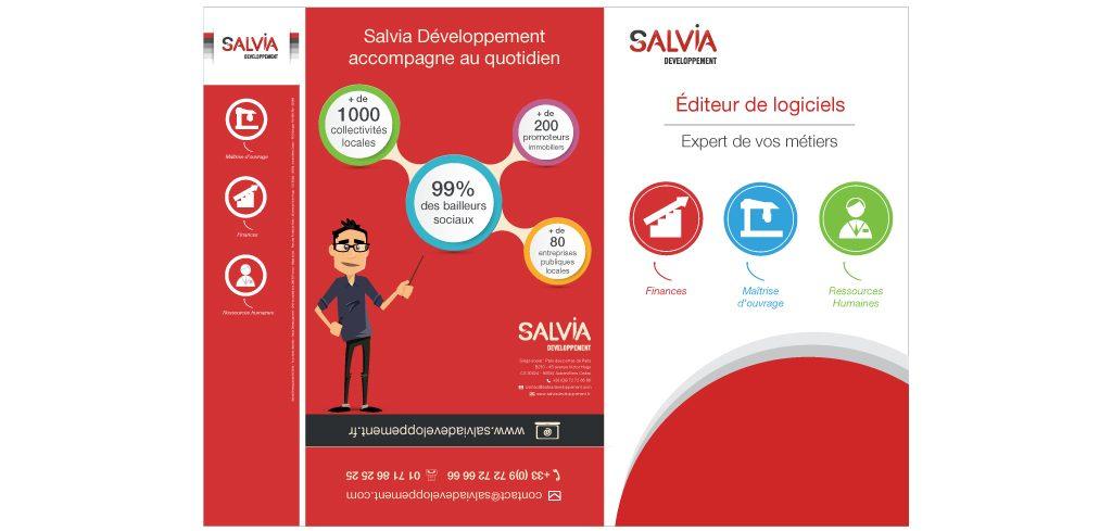 Création plaquette commerciale Salvia Développement