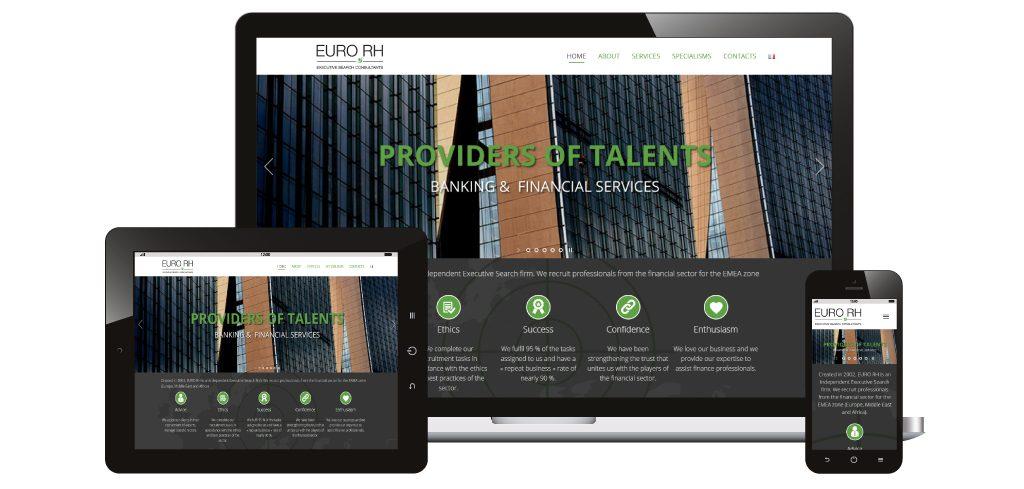 Création site web Euro RH
