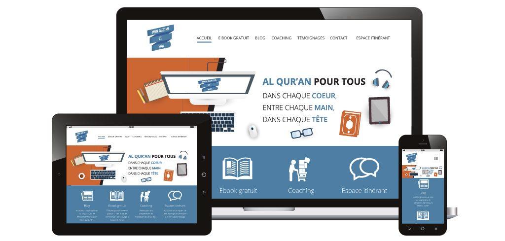 Création site web Mon Quran et Moi