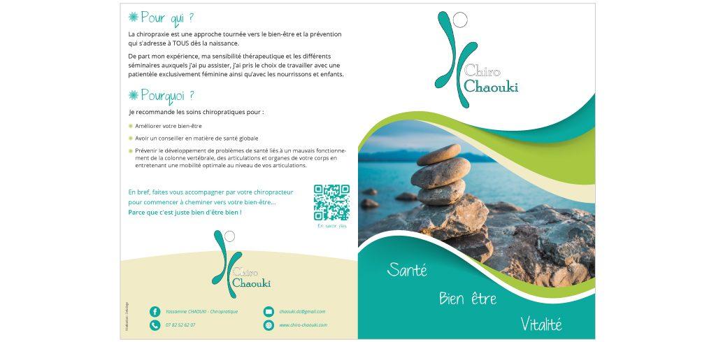 Création plaquette commerciale Chiro Chaouki