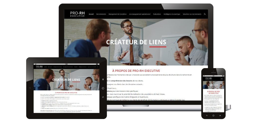 Création site web Pro-RH Executive