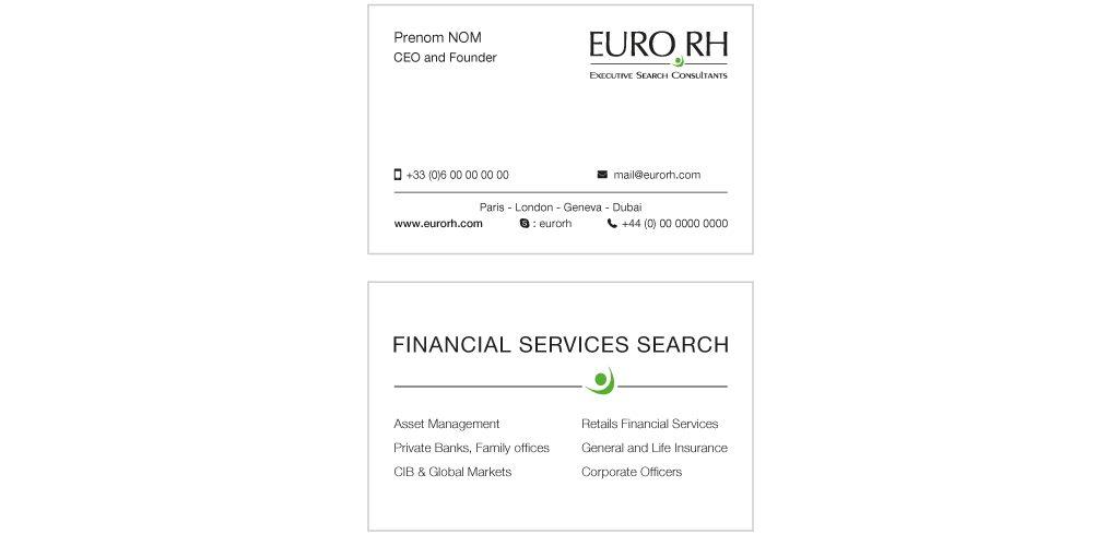 Création carte de visite Euro RH