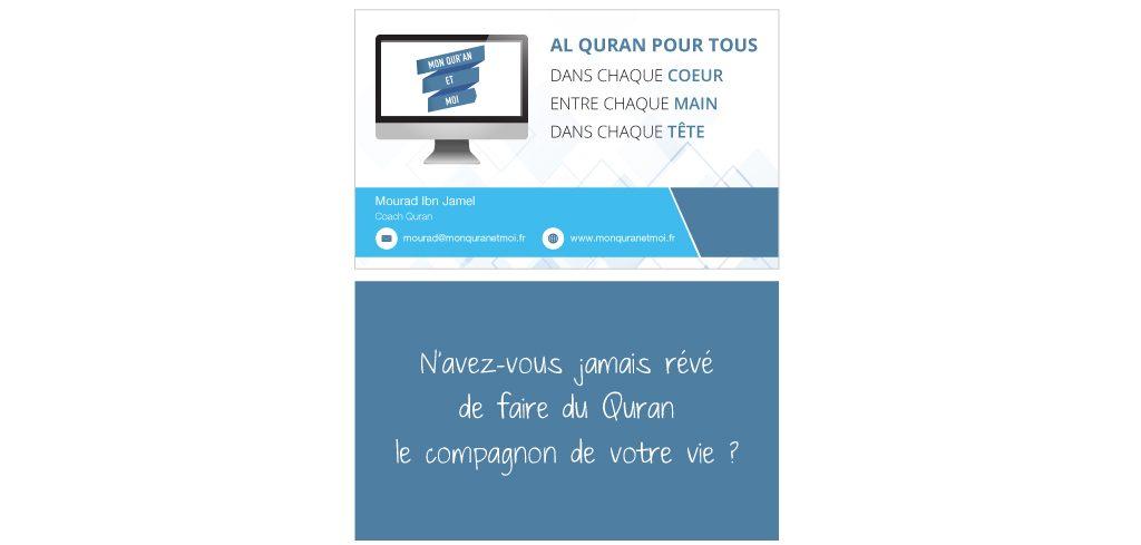 Création carte de visite Mon Quran et Moi
