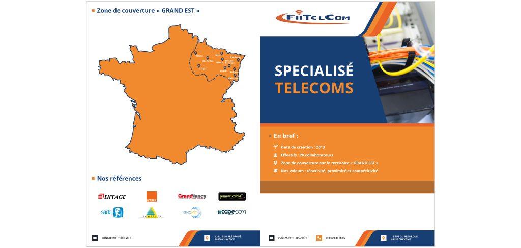 Création plaquette commerciale Fiitelcom