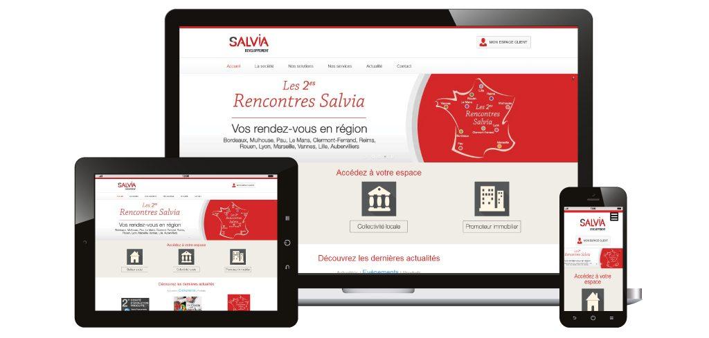 Création du site web Salvia Développement